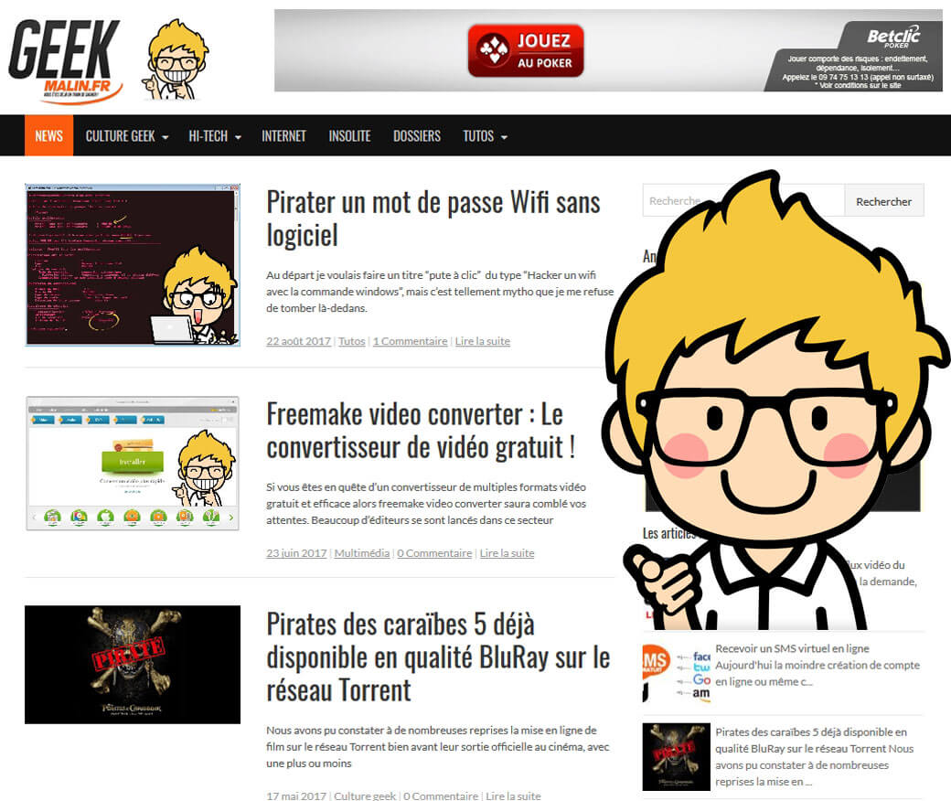 Le Blog du Geek Malin