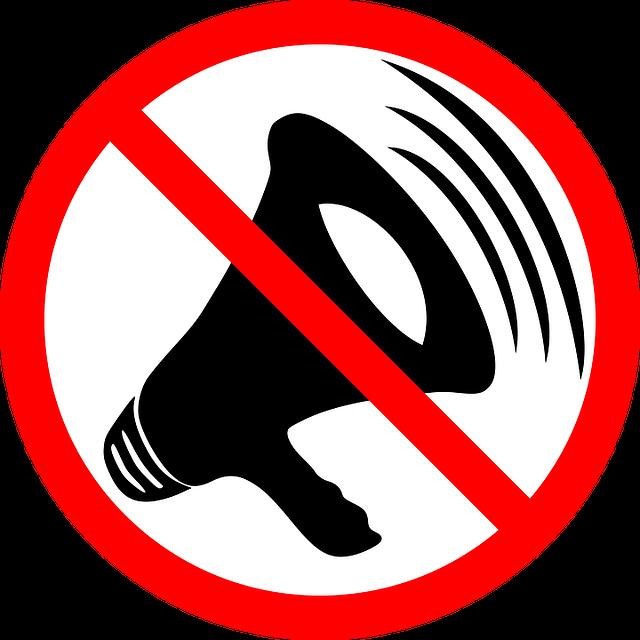haut parleur illustrant du bruit